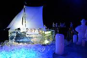 Het IJsbeelden Festival presenteert '200 jaar Koninkrijk der Nederlanden', een vorstelijke geschiedenis in ijs en sneeuw.<br /> <br /> Op de foto: IJssculptuur van de aankmost van  Willem van Oranje