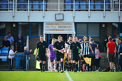 GRANTHAM TOWN AND ALTRINCHAM BEFORE KICK OFF,  Grantham Town v Altrincham Evostik League Premier Division Northern, South Kesteven Stadium, Score 0-2, Altrincham Promoted and Winners of the League Saturday 21st April 2018.