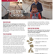 "Mercy Corps brief, ""The Syria Crisis,"" 2014."
