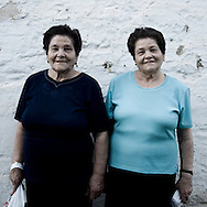 Twins in Fuente de Cantos, Badajoz province, Extremadura region. Spain . The WAY OF SAINT JAMES or CAMINO DE SANTIAGO following the Silver Way, between Seville and Astorga, SPAIN.Tradition says that the body and head of St. James, after his execution circa. 44 AD, was taken by boat from Jerusalem to Santiago de Compostela. The Cathedral built to keep the remains has long been regarded as important as Rome and Jerusalem in terms of Christian religious significance, a site worthy to be a pilgrimage destination for over a thousand years. In addition to people undertaking a religious pilgrimage, there are many travellers and hikers who nowadays walk the route for non-religious reasons: travel, sport, or simply the challenge of weeks of walking in a foreign land. In Spain there are many different paths to reach Santiago. The three main ones are the French, the Silver and the Coastal or Northern Way. The pilgrimage was named one of UNESCO's World Heritage Sites in 1993. When there is a Holy Compostellan Year (whenever July 25 falls on a Sunday; the next will be 2010) the Galician government's Xacobeo tourism campaign is unleashed once more. Last Compostellan year was 2004 and the number of pilgrims increased to almost 200.000 people.