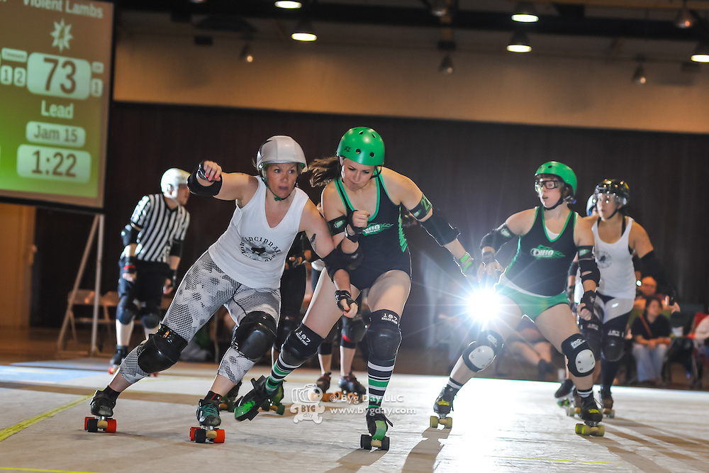 2014-08-16: Cincinnati Roller Girls at Louche Building - Ohio Expo Center in Columbus, Ohio. Dorn Byg/Byg Day LLC