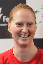 February 6, 2019 - Liege, BELGIQUE - LIEGE, BELGIUM - FEBRUARY 6 :   Alison Van Uytvanck pictured during a press conference of Belgium prior to the Fed Cup World Group 1st Round meeting between Belgium and France on February 06, 2019 in Liege, Belgium, 6/02/2019 (Credit Image: © Panoramic via ZUMA Press)