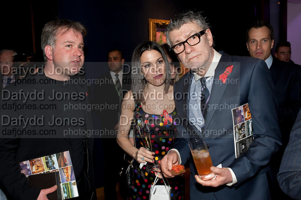 CLIVE ARZEIAN;  JULIA TUCK; JACK VETTRIANO;;, Annual Lighthouse Gala Auction in aid of the Terrence Higgins Trust.  Christie's, King St. London. 21 March 2011. .-DO NOT ARCHIVE-© Copyright Photograph by Dafydd Jones. 248 Clapham Rd. London SW9 0PZ. Tel 0207 820 0771. www.dafjones.com.