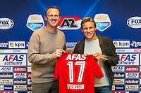 ALKMAAR - 30-01-2017, Johas Svensson, contract , AFAS Stadion, AZ trainer John van den Brom