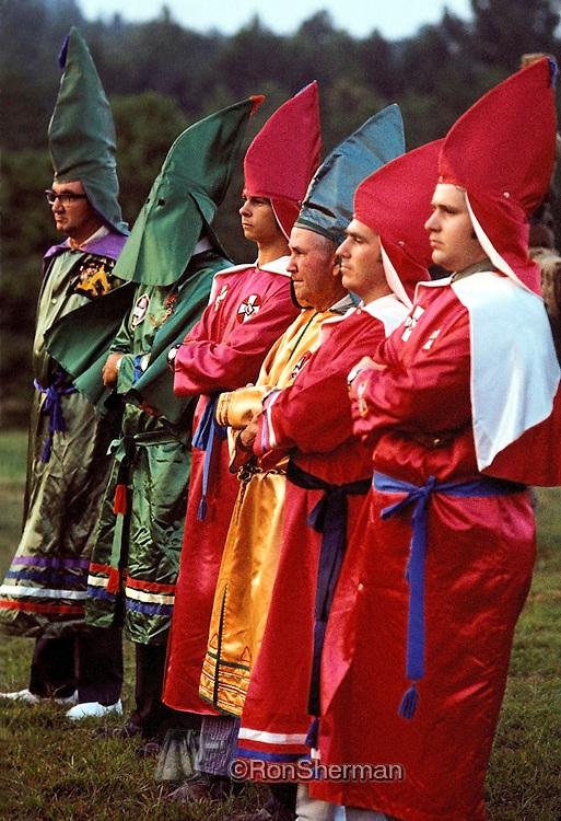 Ku Klux Klan Rally at Stone Mountain Georgia in 1971.
