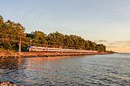 Sunset Hudson River, Hudson River Park, Irvington, NY