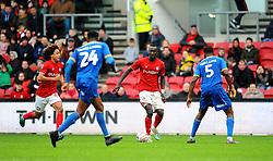 Famara Diedhiou of Bristol City tries to get past Ro-Shaun Williams of Shrewsbury Town- Mandatory by-line: Nizaam Jones/JMP - 04/01/2020 - FOOTBALL - Ashton Gate - Bristol, England - Bristol City v Shrewsbury Town - Emirates FA Cup third round