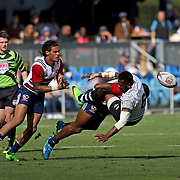 The USA Eagles asserted themselves tackling and winning 24-5 over Fiji, day 2 Silicon Valley 7's, Avaya Stadium, San Jose, California. Photo by Barry Markowitz, 11/6/17, 4pm