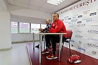 BOEKAREST - 19-08-15, Europa League, Astra GiurGiu - AZ, Persconferentie, <br /> AZ trainer John van den Brom.