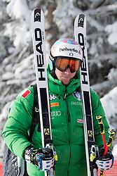 17.01.2017, Hahnenkamm, Kitzbühel, AUT, FIS Weltcup Ski Alpin, Kitzbuehel, Abfahrt, Herren, Streckenbesichtigung, im Bild Mattia Casse (ITA) // Mattia Casse of Italy during the course inspection for the men's downhill of FIS Ski Alpine World Cup at the Hahnenkamm in Kitzbühel, Austria on 2017/01/17. EXPA Pictures © 2017, PhotoCredit: EXPA/ Johann Groder