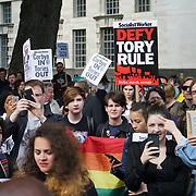 London,England,UK. 9th June 2017. Hundreds protestors demands Theresa May resignation opposite drowning street.