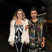 Larissa Eddie and Mr Fabulous - Jay Kamiraz attend BBC1 All Together Now Series 1 Cast Members, fright night at The London Bridge Experience & London Tombs on 28 October 2018, London, UK.