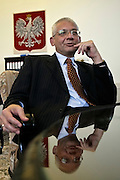 24.08.2006 Warsaw Poland. vice prime minister Ludwik Dorn of PiS in his cabinet Fot Piotr Gesicki