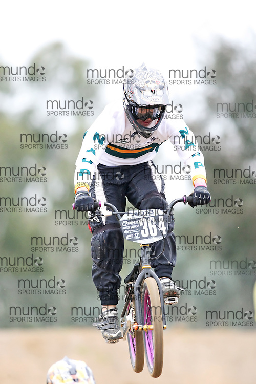 (Canberra, Australia---03 March 2012) Steven Gedye of Victoria competing in stage 5 of the BMX Australia Probikx Junior Men series at the Melba BMX Track in Canberra, Australia. Photograph 2012 Copyright Sean Burges / Mundo Sport Images. For reproduction rights and information in Australia, contact seanburges@yahoo.com. For information elsewhere contact info@mundosportimages.com.