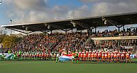AMSTELVEEN - Line Up. Volle tribunes tijdens de tweede  Olympische kwalificatiewedstrijd hockey mannen ,  Nederland-Pakistan (6-1). Oranje plaatst zich voor de Olympische Spelen 2020.  COPYRIGHT  KOEN SUYK