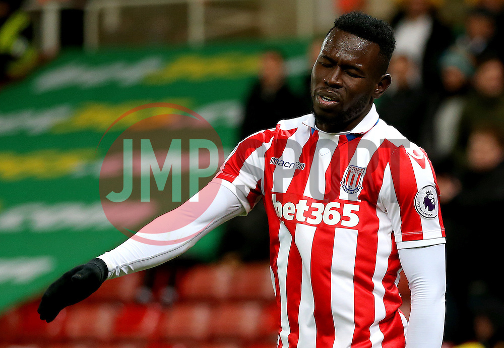 Mame Biram Diouf of Stoke City looks dejected - Mandatory by-line: Matt McNulty/JMP - 03/01/2017 - FOOTBALL - Bet365 Stadium - Stoke-on-Trent, England - Stoke City v Watford - Premier League