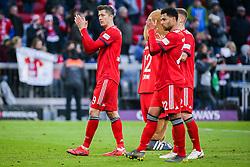 23.02.2019, Allianz Arena, Muenchen, GER, 1. FBL, FC Bayern Muenchen vs Hertha BSC, 23. Runde, im Bild v.li. Robert Lewandowski (FC Bayern Muenchen) und Serge Gnabry (FC Bayern Muenchen) Schlussjubel // during the German Bundesliga 23th round match between FC Bayern Muenchen and Hertha BSC at the Allianz Arena in Muenchen, Germany on 2019/02/23. EXPA Pictures &copy; 2019, PhotoCredit: EXPA/ Eibner-Pressefoto/ Tom Weller<br /> <br /> *****ATTENTION - OUT of GER*****
