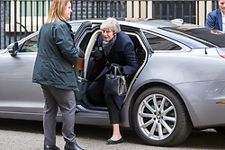 © Licensed to London News Pictures. 14/01/2019. London, UK. Prime Minister Theresa May arrives back at number 10 Downing Street today. Photo credit: Andrew McCaren/LNP
