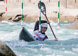 Testen Niko (Soske elektrarne / Slovenia) during ICF Canoe Slalom Ranking Race Tacen 2018, on April 8, 2018 in Ljubljana, Slovenia. Photo by Urban Meglic / Sportida