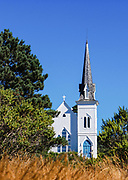 Mendocino California White Wooden Church