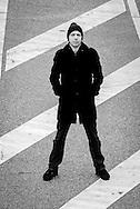 * 8. Mai 1966 in Lütjenburg, Rocko Schamoni ist ein deutscher Entertainer, Musiker, Autor, Schauspieler, Clubbetreiber, festes Mitglied des Komik-Ensembles Studio Braun und Mitglied der Partei Die PARTE. DEUTSCHLAND, HAMBURG, 22.02.08