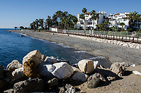 Mediterranean coastline between Puerto Banus and San Pedro de Alcantara, Marbella, Spain, October, 2017, 201710184730<br />