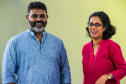 Pictured: Jude Ratnam and Kanchana Ruwanpura <br /> <br /> Jude Ratnam is a Sri Lankan filmmaker. His documentary DEMONS IN PARADISE was selected at Cannes Film Festival 2017<br /> <br /> Dr Kanchana Ruwanpura is a Senior Lecturer in Human Geography in the School of Geosciences at the University of Edinburgh