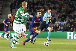December 5, 2017 - Barcelona, Catalonia, Spain - Luis Suarez of Barcelona during the UEFA Champions League match between FC Barcelona and Sporting CP Lisboa at the Camp Nou Stadium in Barcelona, Catalonia, Spain on December 5,2017  (Credit Image: © Miquel Llop/NurPhoto via ZUMA Press)