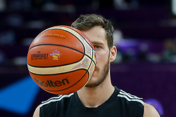 Goran Dragic of Slovenia prior to the Final basketball match between National Teams  Slovenia and Serbia at Day 18 of the FIBA EuroBasket 2017 at Sinan Erdem Dome in Istanbul, Turkey on September 17, 2017. Photo by Vid Ponikvar / Sportida