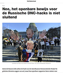 Vrij Nederland Magazine, January 2017 (Bastiaan Slabbers/ Hollandse Hoogte/Zuma Press)