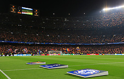 A general view of the Camp Nou Stadium as fans wave flags before kick off - Mandatory by-line: Matt McNulty/JMP - 14/03/2018 - FOOTBALL - Camp Nou - Barcelona, Catalonia - Barcelona v Chelsea - UEFA Champions League - Round of 16 Second Leg