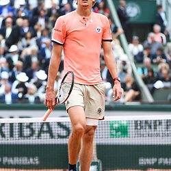 Alexander Zverev of Germany looks dejected during Day 10 for the French Open 2018 on June 5, 2018 in Paris, France. (Photo by Anthony Dibon/Icon Sport)