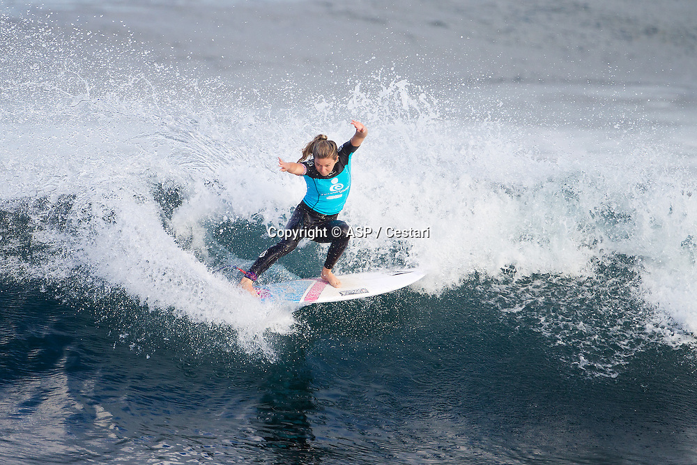 Coco Ho of Sunset Beach, Oahu, Hawaii (pictured), advnaced into the Quarterfinals of the Womens Ripcurl Pro Bells Beach, defeating reighing two times ASP Womens World Champion Carissa Moore (HAW) and Malia Manuel (HAW) in Round 3 at Rincon, Bells Beach today.