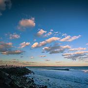Today's windy Sunset Surf in Narragansett,  January  31,2013.  Photo: Tripp Burman