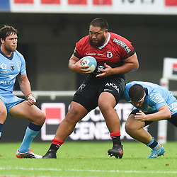 Charlie FAUMUINA of Toulouse  during the Top 14 match between Montpellier and Toulouse on October 19, 2019 in Montpellier, France. (Photo by Alexandre Dimou/Icon Sport) - Charlie FAUMUINA - Altrad Stadium - Montpellier (France)