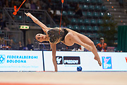 Salome Pazhava from Pontevecchio team during the Italian Rhythmic Gymnastics Championship in Bologna, 9 February 2019. Pontevecchio by Bologna is the organizer of this event.
