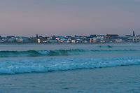 Dawn over the Struisbaai coastline, Struisbaai, Western Cape, South Africa