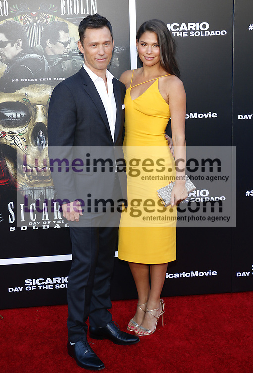 Jeffrey Donovan and Michelle Woods at the Los Angeles premiere of 'Sicario: Day Of The Soldado' held at the Regency Village Theatre in Westwood, USA on June 26, 2018.
