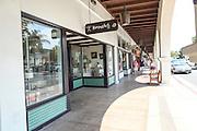 Ojai, California, USA the Arcade on Ojai Ave.