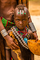 Hamer tribe girl, Omo Valley, Ethiopia.