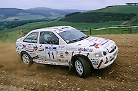 Mobil 1/RAC British Rally Championship 1997. RSAC Scottish Rally. Stephanie Simmonite / Rachael Simmonite. Ford Motorsport. Ford Escort RS2000. World Copyright: Peter Taylor/PSP. Copy of publication required for printed pictures. Every used picture is fee-liable..