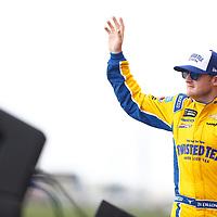 May 12, 2018 - Kansas City, Kansas, USA: Ty Dillon (13) gets introduced for the KC Masterpiece 400 at Kansas Speedway in Kansas City, Kansas.