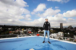 Nico Hulkenberg (GER) Sahara Force India F1 on a rooftop helipad.<br /> 27.10.2016. Formula 1 World Championship, Rd 19, Mexican Grand Prix, Mexico City, Mexico, Preparation Day.<br />  <br /> / 271016 / action press