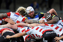The front rows pop up at a scrum - Mandatory byline: Patrick Khachfe/JMP - 07966 386802 - 13/09/2015 - RUGBY UNION - Memorial Stadium - Bristol, England - Gloucester Rugby v Bath Rugby - West Country Challenge Cup.