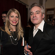 (l-r) Meredith Ostrom and Wesley Stace at the 'Still Waters in a Storm' benefit at The City Winery NYC. <br /> <br /> Still Waters in a Storm is a free school for children in the neighborhood of Bushwick, Brooklyn.Volunteers offer homework help and classes in reading, writing, violin, music composition, yoga and Latin, all free of charge to low-income families in the neighborhood.