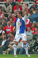 Photo: Andrew Unwin.<br />Middlesbrough v Blackburn Rovers. The Barclays Premiership. 23/09/2006.<br />Blackburn's Morten Gamst Pedersen calls for the ball.