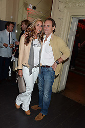 TARA BERNERD and FABIEN PICTET at the Carrera Ignition Night at The House of St.Barnabas, Soho, London on 20th June 2013.