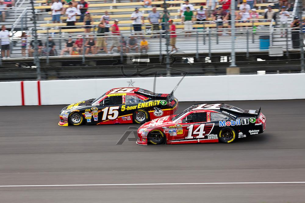BROOKLYN, MI - JUN 17, 2012:  The NASCAR Sprint Cup teams race for the Quicken Loans 400 at the Michigan International Speedway in Brooklyn, MI.