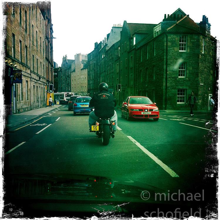 Edinburgh road..Hipstamatic images taken on an Apple iPhone..©Michael Schofield.