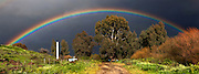 Full arc Rainbow photographed at the Golan Heights Israel